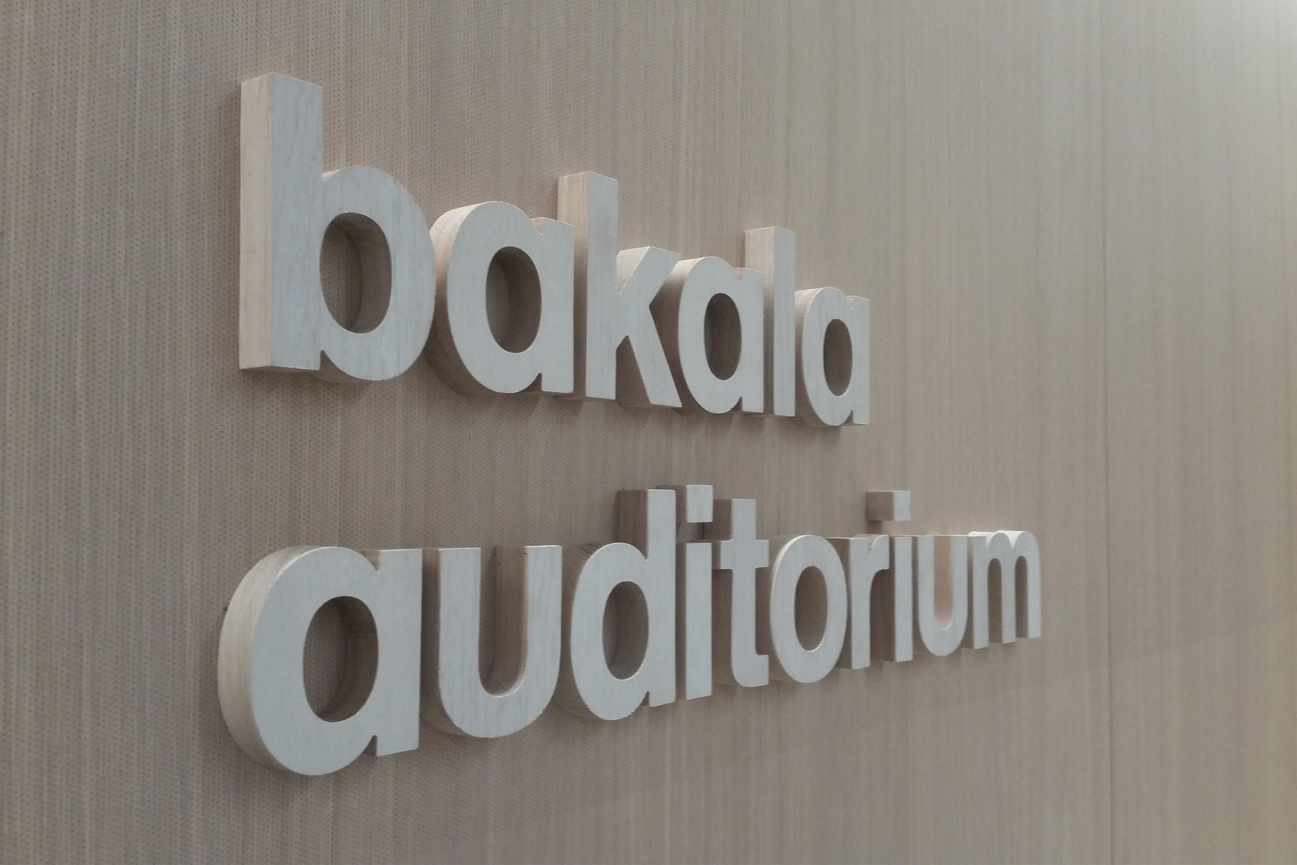 Sustainable Oak lettering signage
