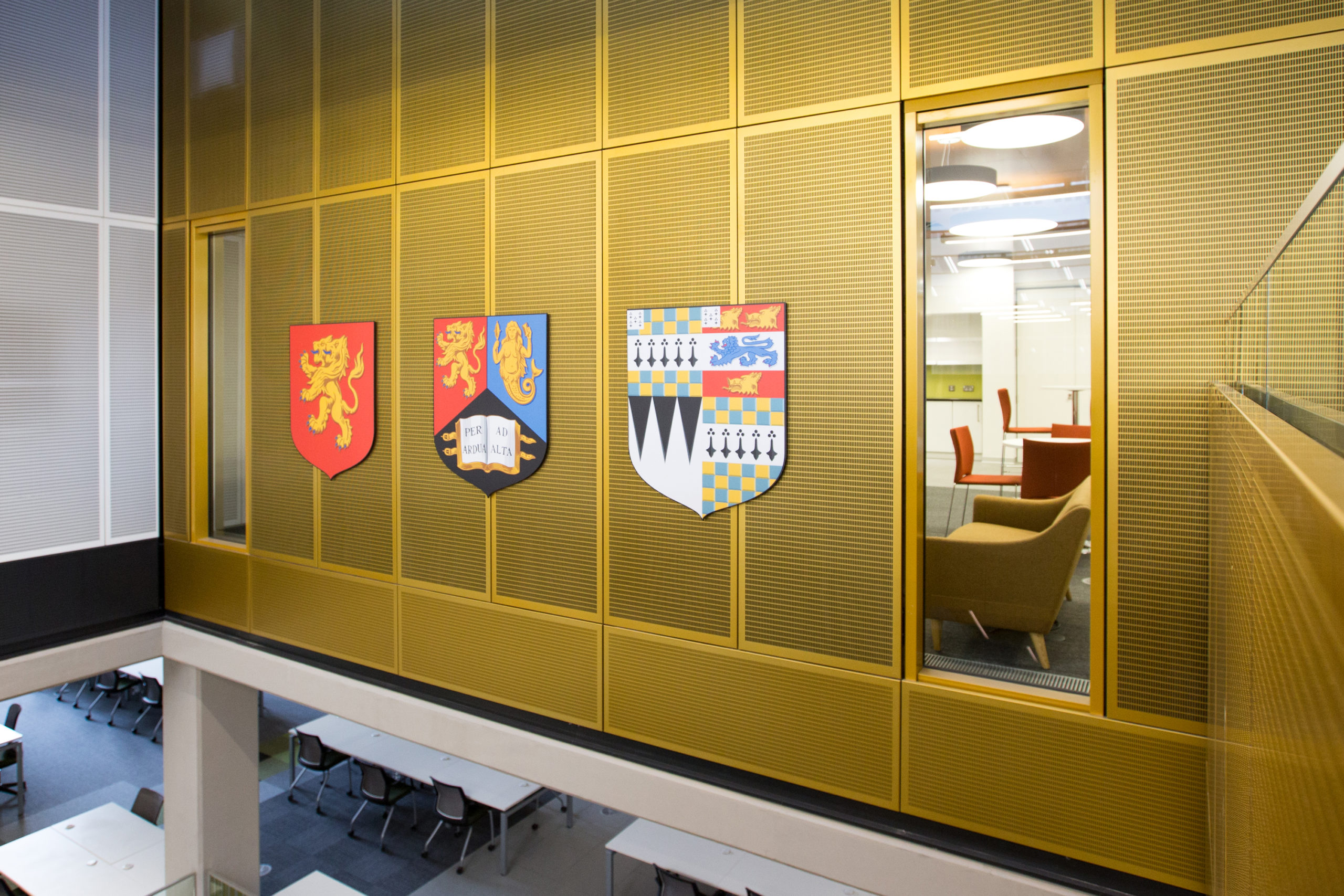 Coat of arms signage